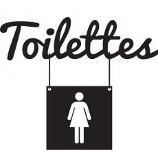 Sticker Toilettes femme