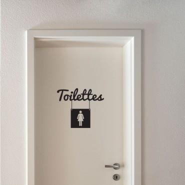 Sticker Toilettes femme - stickers porte & stickers deco - fanastick.com