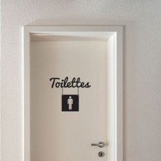 Sticker Toilettes homme