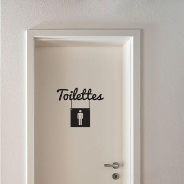 Sticker Toilettes homme - stickers porte & stickers deco - fanastick.com