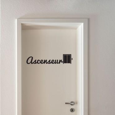 Sticker Ascenseur - stickers porte & stickers deco - fanastick.com