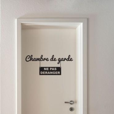 Sticker Chambre de garde - stickers porte & stickers deco - fanastick.com