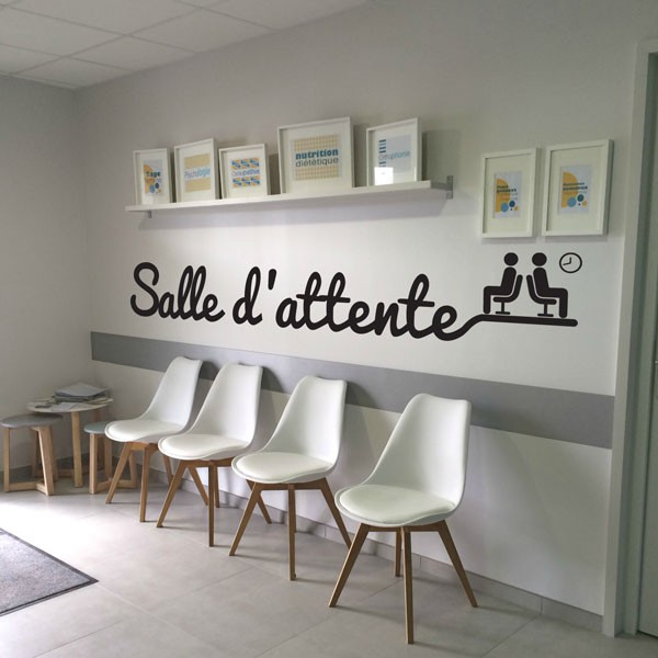 sticker salle d 39 attente stickers porte stickers deco. Black Bedroom Furniture Sets. Home Design Ideas
