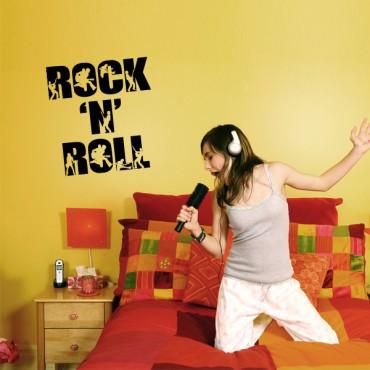 Sticker Rock and roll bicolore - stickers musique & stickers muraux - fanastick.com