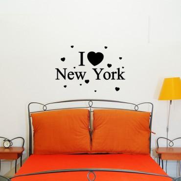 Sticker I love New York - stickers citations & stickers muraux - fanastick.com