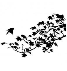 Sticker Feuillage avec oiseaux