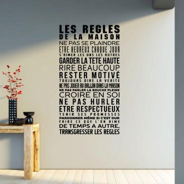 Sticker les règles de la maison - stickers cuisine & stickers muraux - fanastick.com