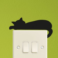 Sticker prise chat couché