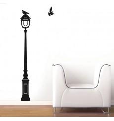 Sticker Oiseaux sur lampadaire