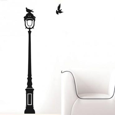 Sticker Oiseaux sur lampadaire - stickers dans la ville & stickers muraux - fanastick.com