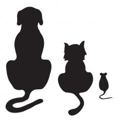Sticker  chien, chat et souris