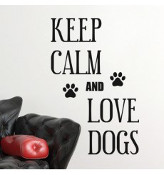 Sticker Keep Calm and Love Dogs