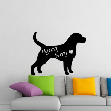 Sticker Ardoise Silhouette chien - stickers ardoise & stickers muraux - fanastick.com