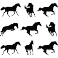 Sticker 9 silhouettes des chevaux - stickers cheval & stickers muraux - fanastick.com