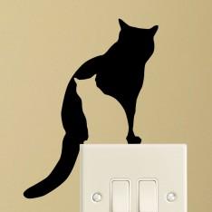 Sticker silhouettes de chats
