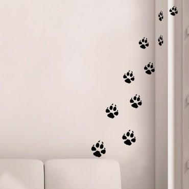 Sticker Traces de pas de chiens - stickers animaux & stickers muraux - fanastick.com