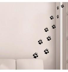 Sticker Traces de pas de chiens