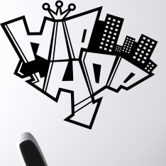 Sticker hip hop graffiti