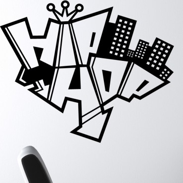 Sticker hip hop graffiti - stickers graffiti & stickers muraux - fanastick.com