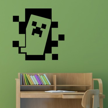Sticker Minecraft, Creeper - stickers jeux & stickers enfant - fanastick.com