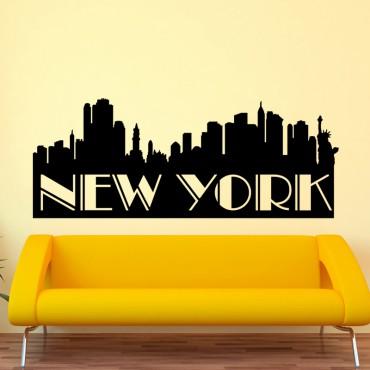 Sticker Panorama de New York - stickers new york & stickers muraux - fanastick.com