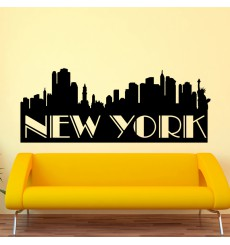 Sticker Panorama de New York