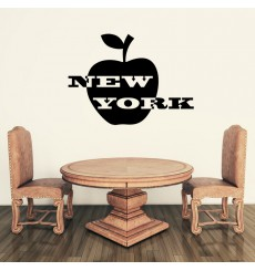 Sticker New York et pomme