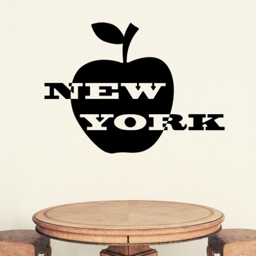 Sticker New York et pomme - stickers new york & stickers muraux - fanastick.com