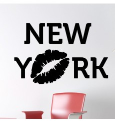 Sticker New York avec baiser