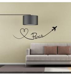 Sticker Avion trace de Paris