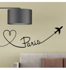 Sticker Avion trace de Paris