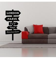Sticker signe pour les villes du monde 1
