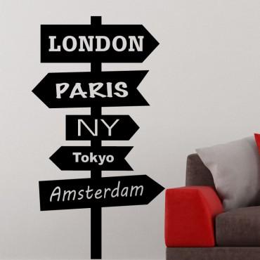 Sticker signe pour les villes du monde 1 - stickers monde & stickers muraux - fanastick.com
