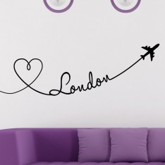 Sticker Avion trace de Londres