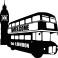 Sticker bus de Londres - stickers london & stickers muraux - fanastick.com