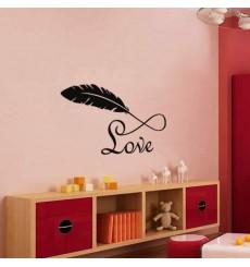Sticker Plume et Love