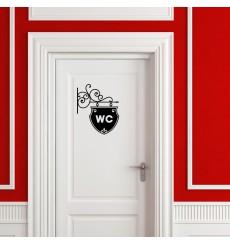 Sticker Plaque pour WC
