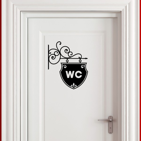 Sticker plaque pour wc stickers wc stickers toilette - Stickers porte wc ...