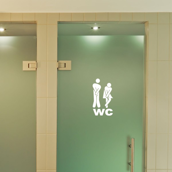 Sticker porte figure wc 1 stickers wc stickers for Stickers wc porte