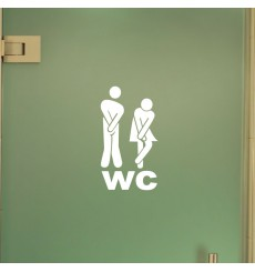 Sticker porte Figure WC 1