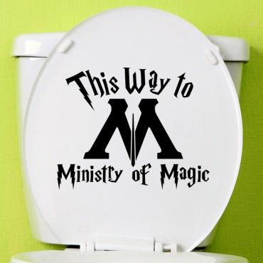 Sticker Ministère de la Magie - stickers abattants wc & stickers muraux - fanastick.com