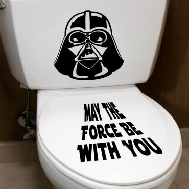Sticker May the force ... - stickers abattants wc & stickers muraux - fanastick.com