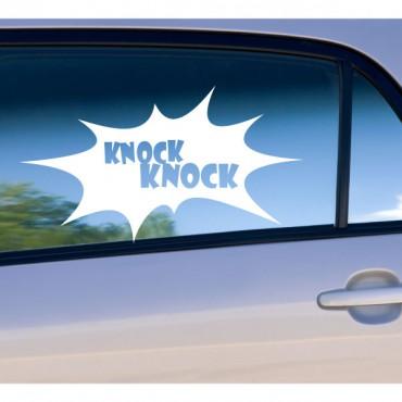 Sticker porte toc-toc - stickers humour & stickers muraux - fanastick.com