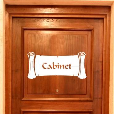 Sticker Papyrus Cabinet - stickers porte & stickers deco - fanastick.com