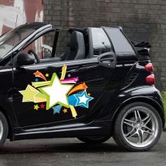 Sticker Explosion d'étoiles