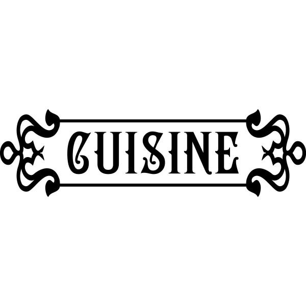 Sticker d co cuisine r tro stickers cuisine stickers muraux - Stickers deco cuisine ...