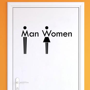 Sticker WC Man & Women - stickers porte & stickers deco - fanastick.com