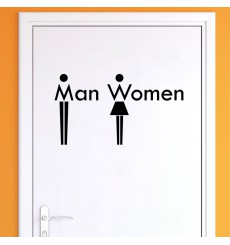 Sticker WC Man & Women