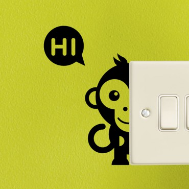 Sticker singes moitié - stickers prise & stickers muraux - fanastick.com