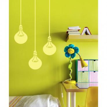 Sticker Ampoules - stickers chambre & stickers muraux - fanastick.com